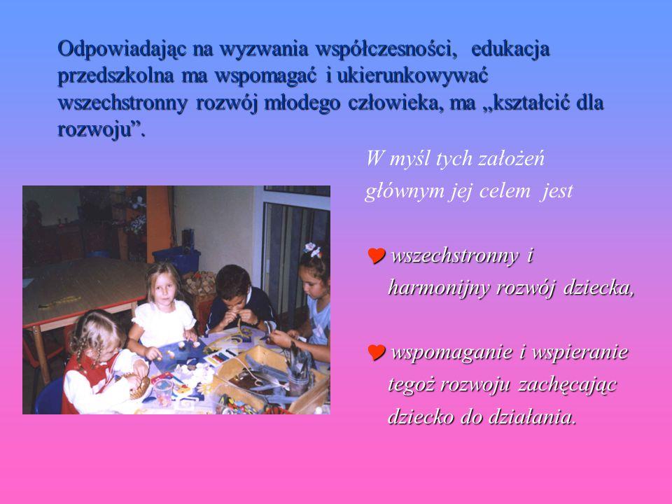 WPOMAGANIE ROZWOJU DZIECKA opracowała : mgr Jolanta Witczak
