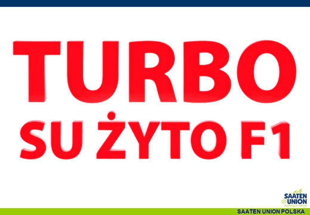 TURBO- MIESZAŃCE w uprawie SU DRIVE F1 TURBO plon na typowych glebach żytnich Bardzo szybki rozwój roślin Najlepiej plonująca odmiana w badaniach rejestrowych COBORU 2009-2010 Rośliny średnio-wysokie o dobrej odporności na wyleganie TURBO PLON