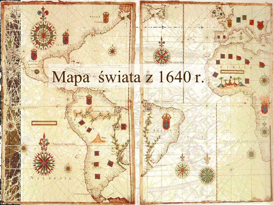 Mapa świata z 1640 r.