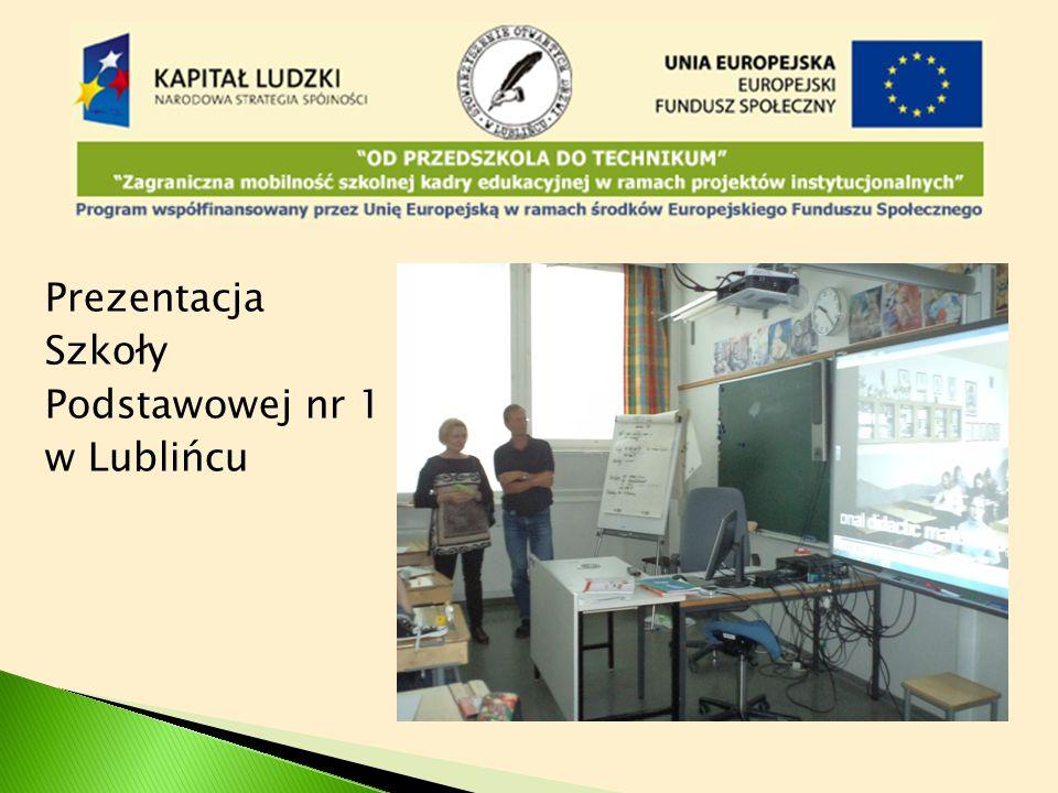 Prezentacja Szkoły Podstawowej nr 1 w Lublińcu