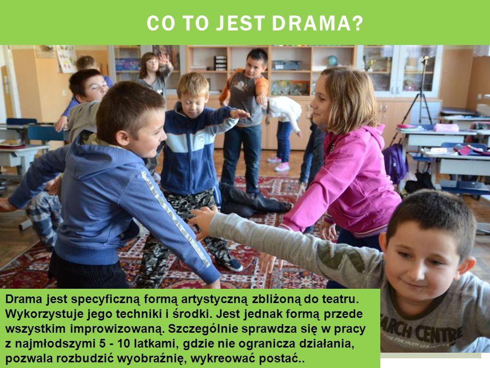 CO TO JEST DRAMA.Drama jest specyficzną formą artystyczną zbliżoną do teatru.