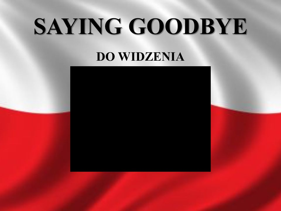 SAYING GOODBYE DO WIDZENIA