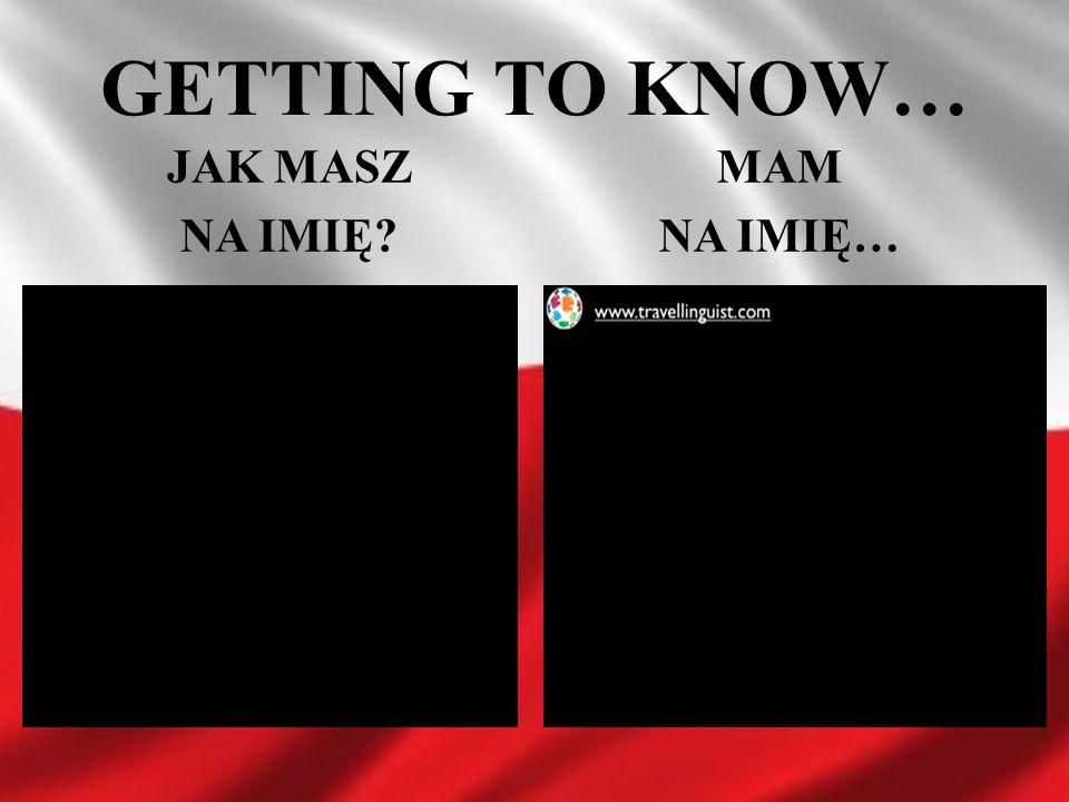 GETTING TO KNOW… JAK MASZ NA IMIĘ? MAM NA IMIĘ…
