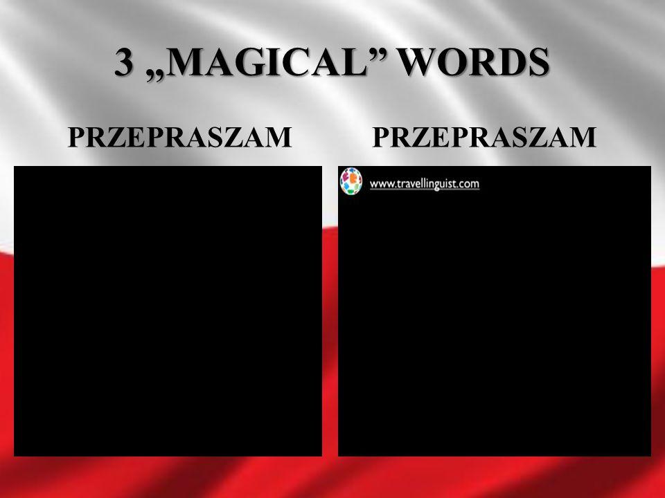 """3 """"MAGICAL"""" WORDS PRZEPRASZAM"""