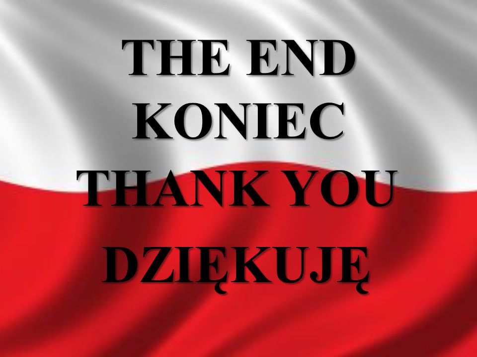 THE END KONIEC THANK YOU DZIĘKUJĘ
