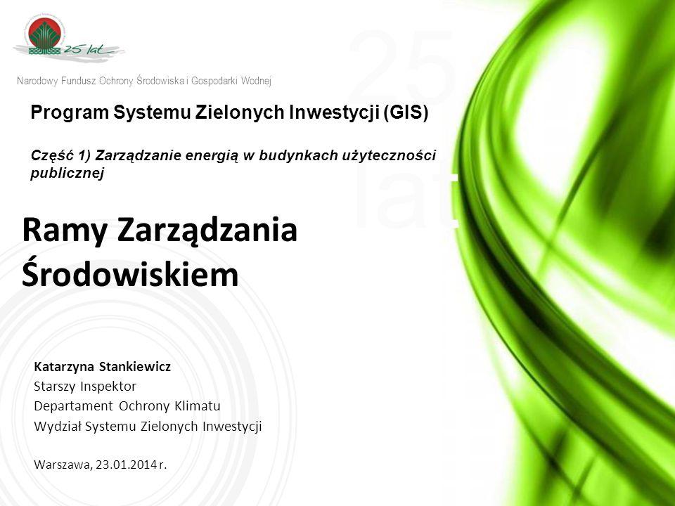 25 lat w w w.n f o s i g w. g o v. p l Ramy Zarządzania Środowiskiem (RZŚ) - zał.