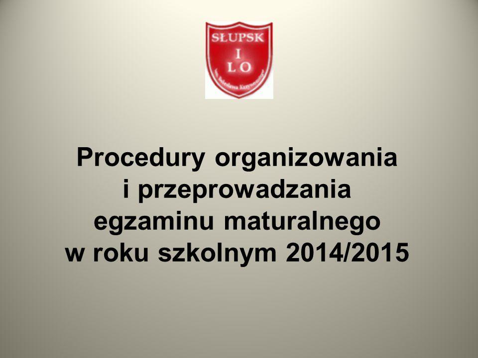 Czas trwania wybranych egzaminów maturalnych w części pisemnej I Liceum Ogólnokształcące w Słupsku