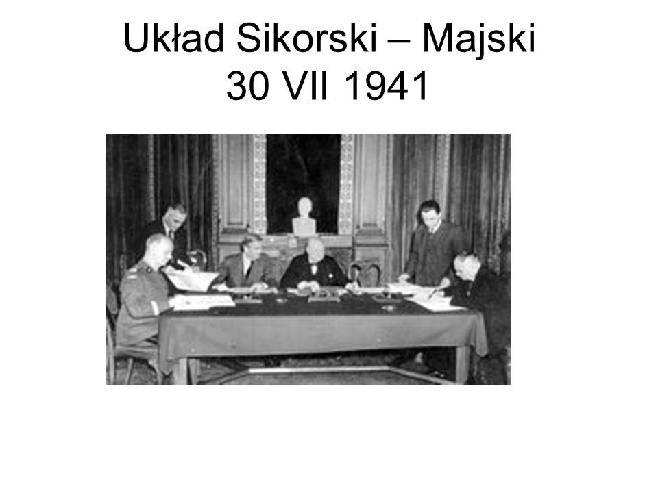 Układ Sikorski – Majski 30 VII 1941
