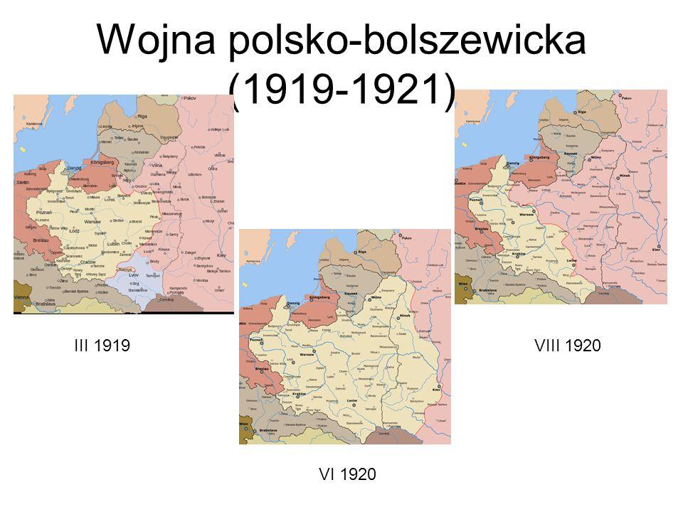 Wojna polsko-bolszewicka (1919-1921) III 1919 VIII 1920 VI 1920