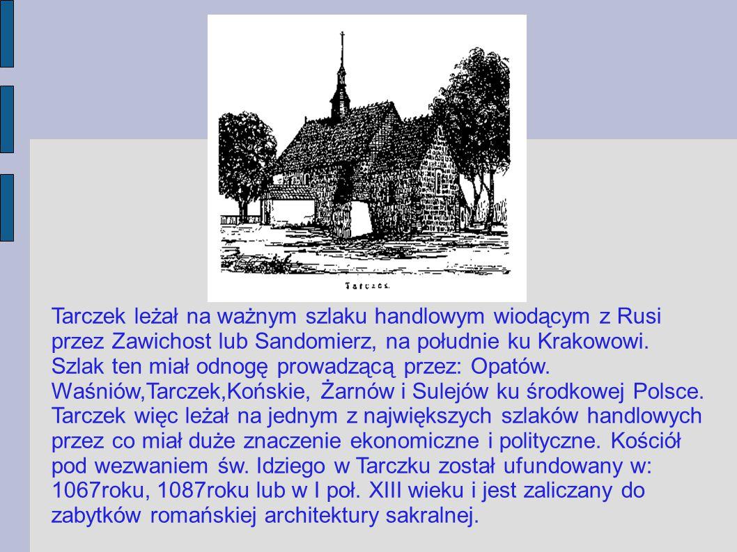 Kościół w Tarczku to budowla orientowana, jednonawowa, z wyodrębnionym kwadratowym, prosto zamkniętym prezbiterium.