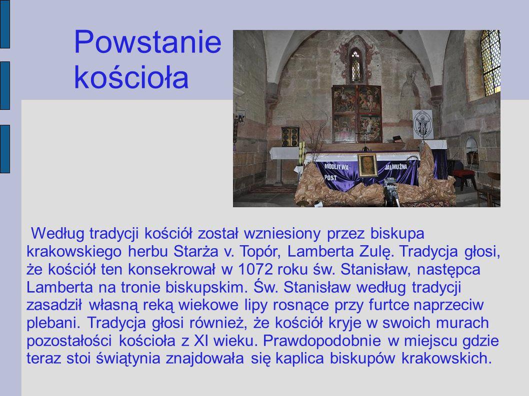 Dzieje świątyni 1259 rok - Dzięki księdzu plebanowi Walentemu Mrowickiemu kościół otrzymał trzy ołtarze.
