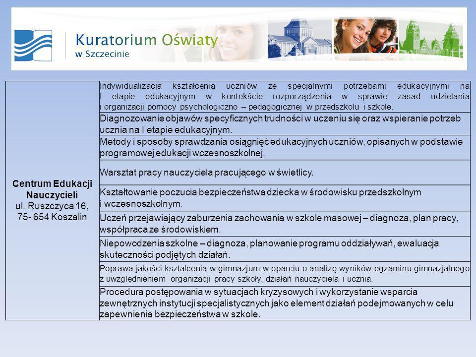 Centrum Edukacji Nauczycieli ul.