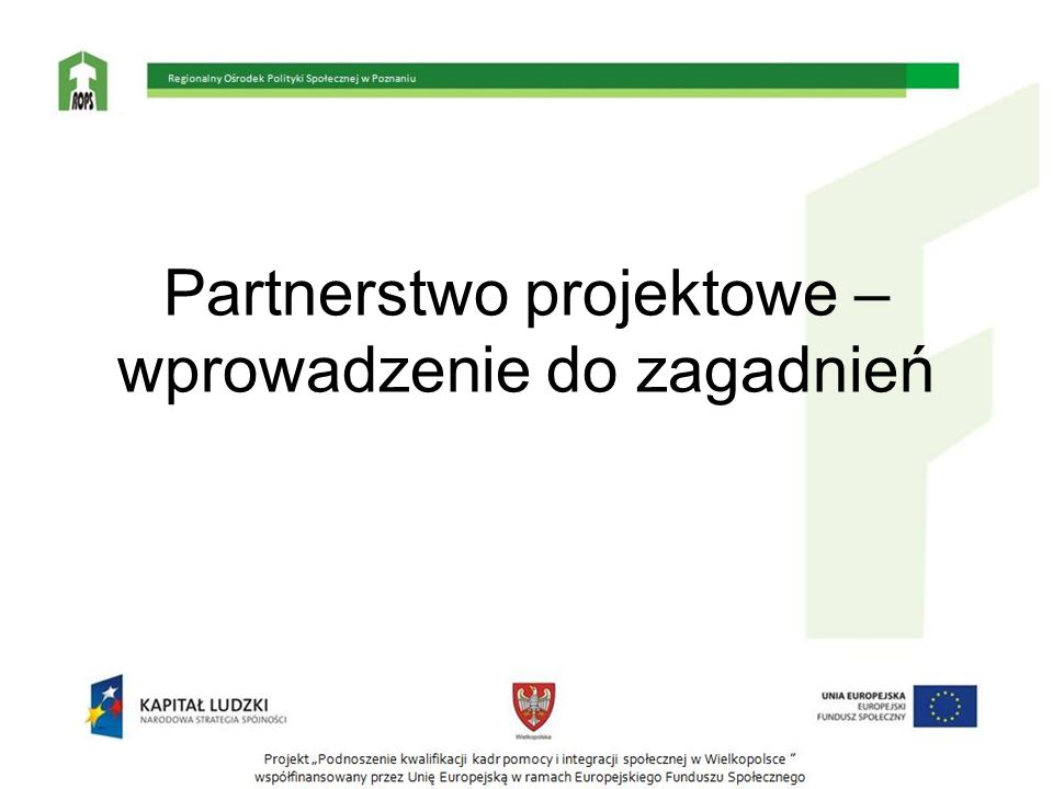 Partnerstwo projektowe – wprowadzenie do zagadnień