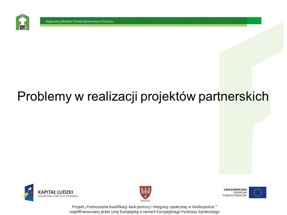 Problemy w realizacji projektów partnerskich