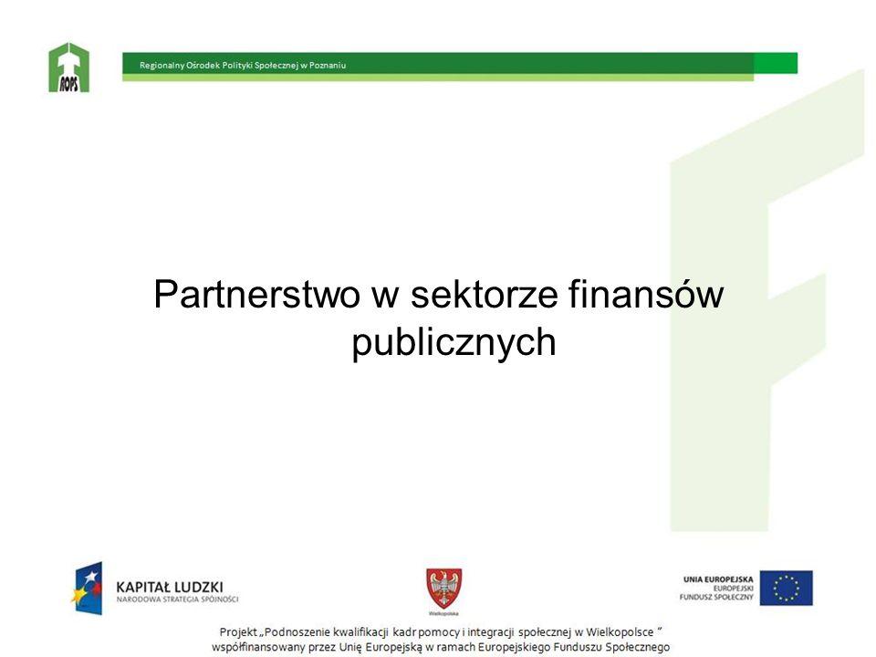 Partnerstwo w sektorze finansów publicznych