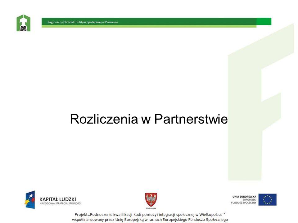 Rozliczenia w Partnerstwie