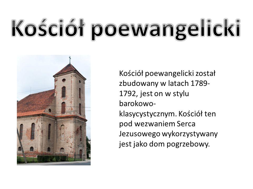 Kościół poewangelicki został zbudowany w latach 1789- 1792, jest on w stylu barokowo- klasycystycznym. Kościół ten pod wezwaniem Serca Jezusowego wyko