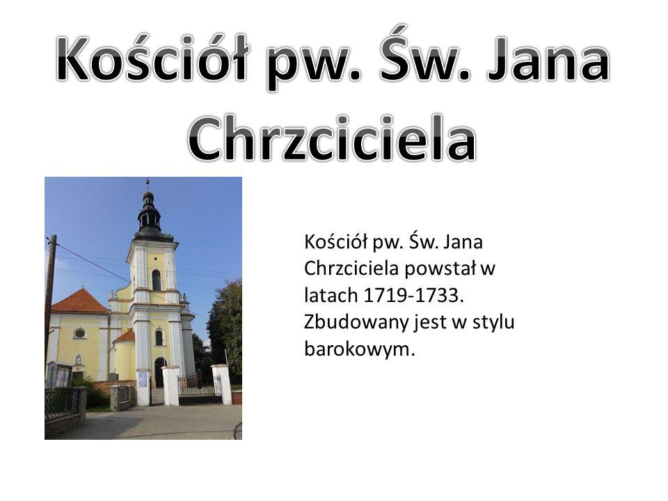 Kościół pw. Św. Jana Chrzciciela powstał w latach 1719-1733. Zbudowany jest w stylu barokowym.