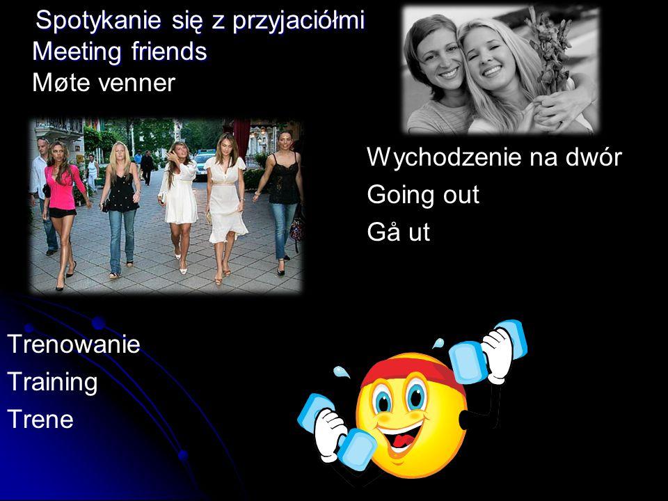 Spotykanie się z przyjaciółmi Meeting friends Spotykanie się z przyjaciółmi Meeting friends Møte venner Wychodzenie na dwór Going out Gå ut Trenowanie