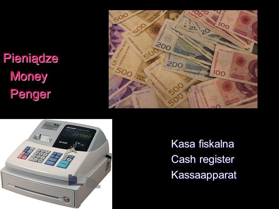 Pieniądze Money Money Penger Penger Kasa fiskalna Kasa fiskalna Cash register Cash register Kassaapparat Kassaapparat