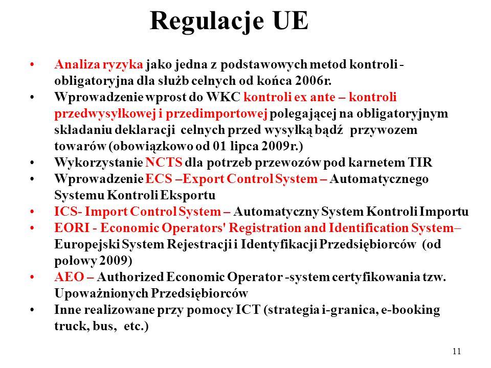 10 Odpowiedź UE i włączenie Polski do systemu bezpieczeństwa międzynarodowego łańcucha dostaw Uczestnictwo Polski w unii celnej UE – wyłączna kompetencja UE - było związane z utratą suwerenności w polityce handlowej i celnej, co oznaczało przyjęcie polityki celnej UE, w tym i prawa celnego oraz innych regulacji odnoszących się do międzynarodowego obrotu towarowego, a więc i przyjęcie podstawowego paradygmatu tej polityki – bezpieczeństwa międzynarodowego łańcucha dostaw; W tej sferze oznaczało to utratę wcześniejszych autonomicznych układów handlowych, w tym i z Ukrainą; Zmienione wymagania dotyczące transgranicznej współpracy nie tylko związane zostały z całokształtem unijnego prawa celnego (standardów proceduralnych, technicznych, fito i weterynaryjnych, ale i ruchu osobowego, w tym przekraczania zewnętrznych granic celnych przez przedsiębiorców) W istocie oznaczało to, w porównaniu ze stanem sprzed akcesji, dodatkowe utrudnienia dla biznesu (wprowadzenie wiz, dodatkowych wymogów technicznych dla służb granicznych i celnych, etc.)