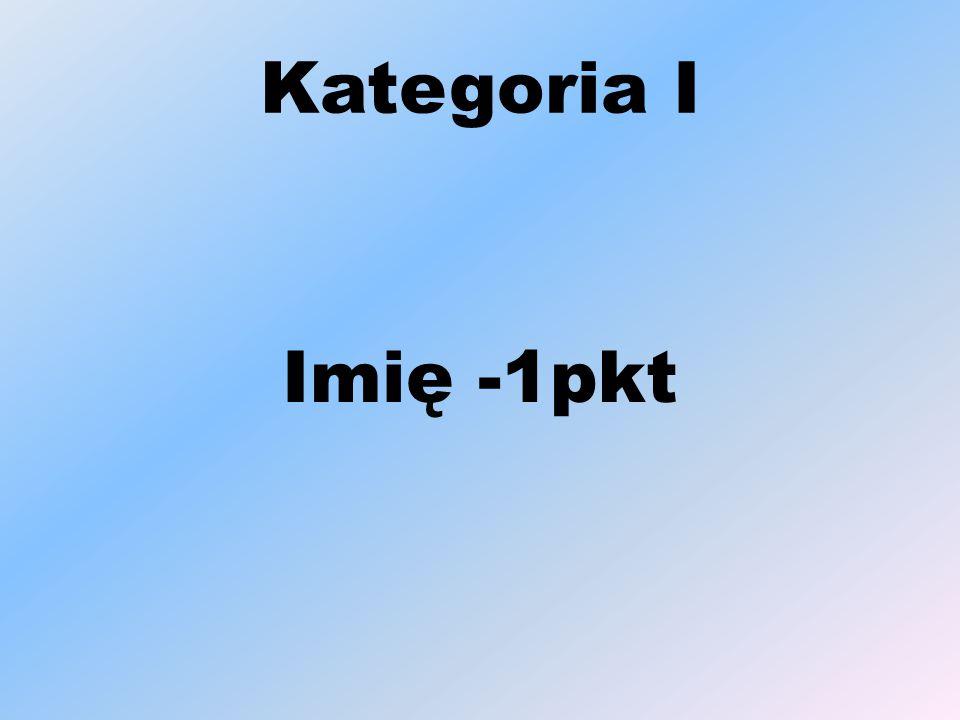 Kategoria I Imię -1pkt
