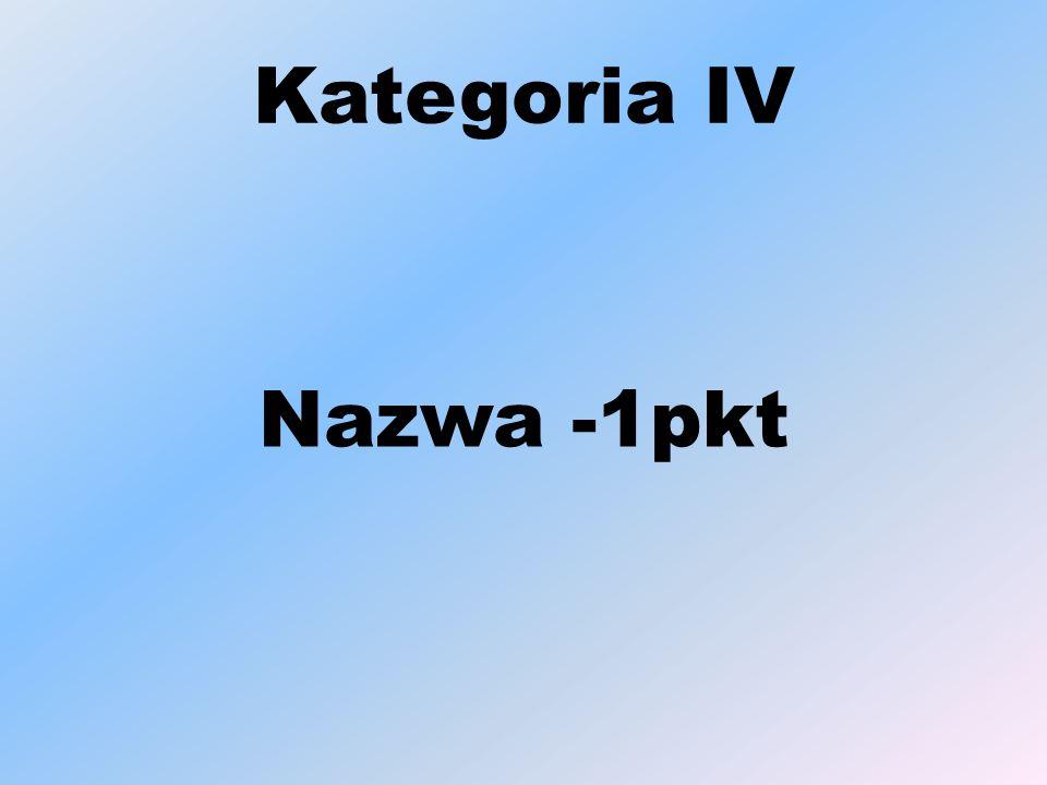 Kategoria IV Nazwa -1pkt