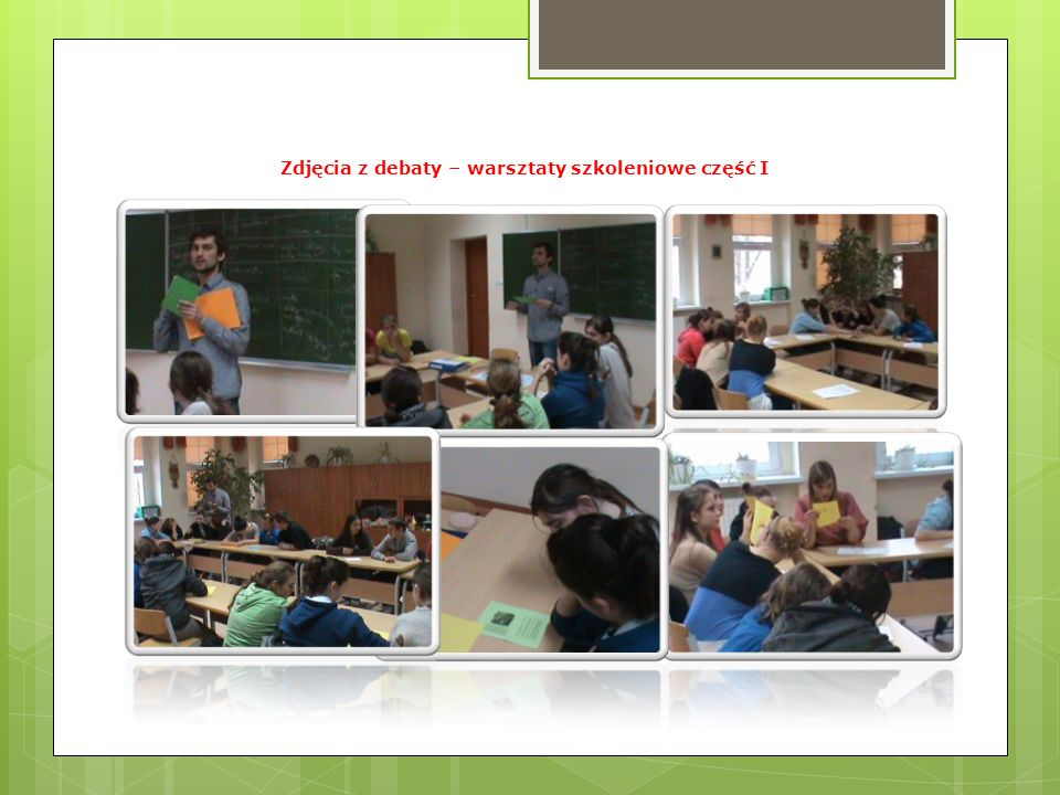 Podczas warsztatów wykonano następujące ćwiczenia - ćwiczenie nr 1