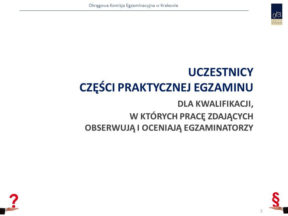Okręgowa Komisja Egzaminacyjna w Krakowie UCZESTNICY CZĘŚCI PRAKTYCZNEJ EGZAMINU DLA KWALIFIKACJI, W KTÓRYCH PRACĘ ZDAJĄCYCH OBSERWUJĄ I OCENIAJĄ EGZAMINATORZY 3
