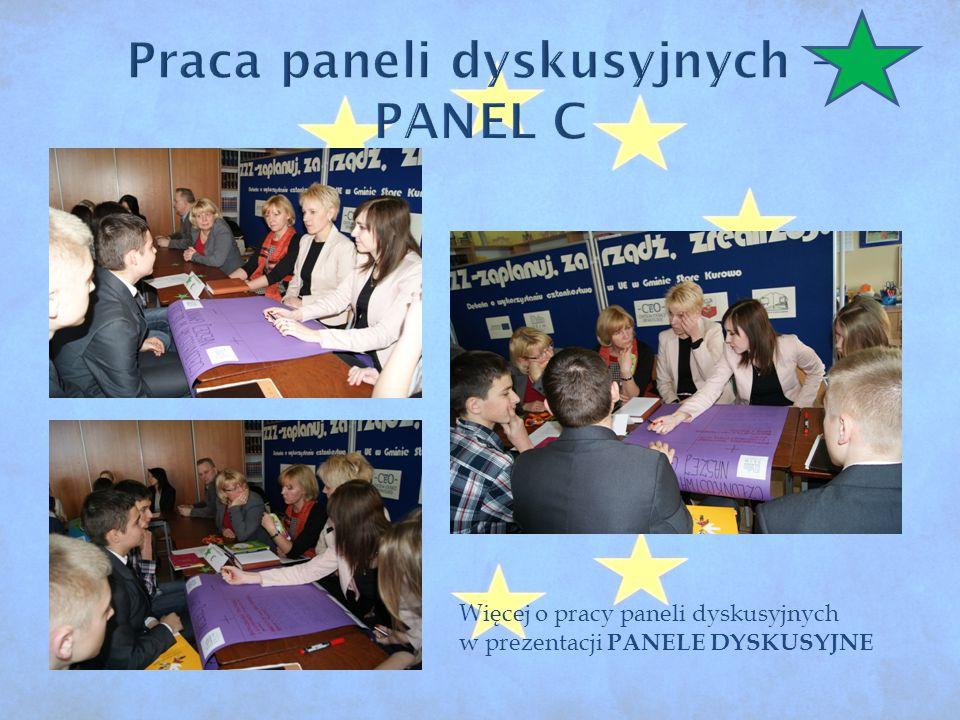 Więcej o pracy paneli dyskusyjnych w prezentacji PANELE DYSKUSYJNE
