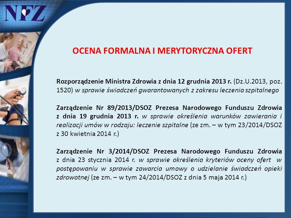 Rozporządzenie Ministra Zdrowia z dnia 12 grudnia 2013 r. (Dz.U.2013, poz. 1520) w sprawie świadczeń gwarantowanych z zakresu leczenia szpitalnego Zar