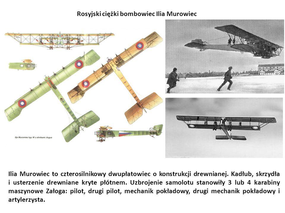 Ilia Murowiec to czterosilnikowy dwupłatowiec o konstrukcji drewnianej. Kadłub, skrzydła i usterzenie drewniane kryte płótnem. Uzbrojenie samolotu sta