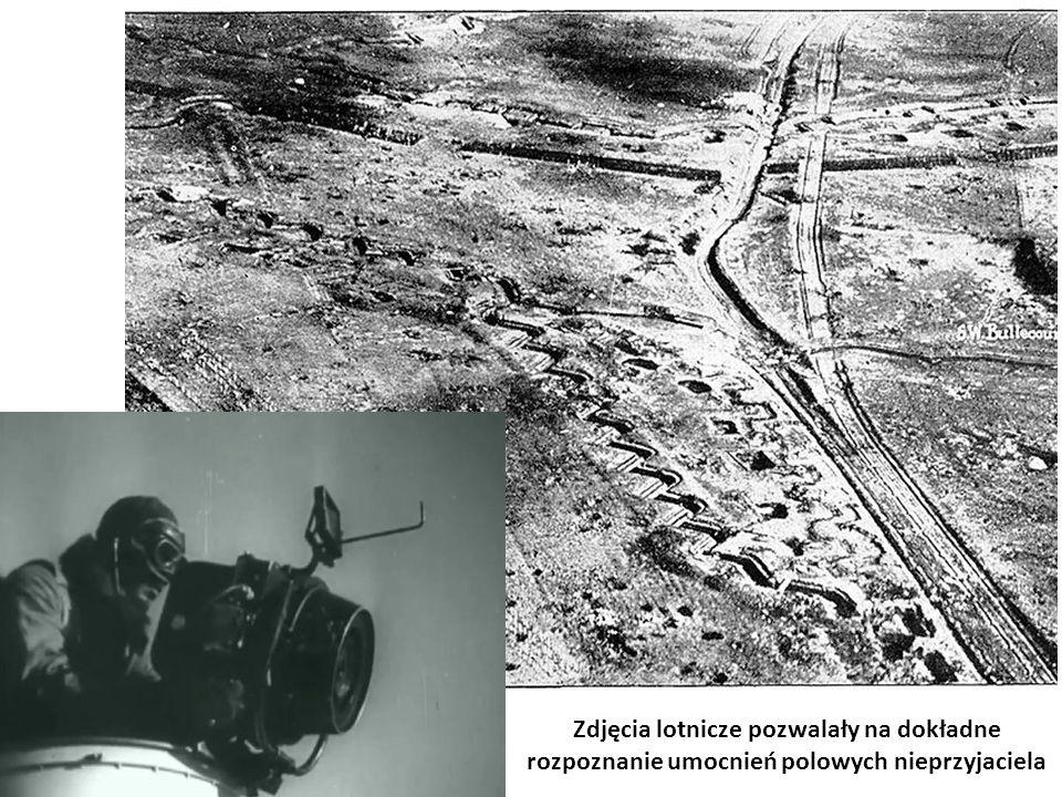 Zdjęcia lotnicze pozwalały na dokładne rozpoznanie umocnień polowych nieprzyjaciela
