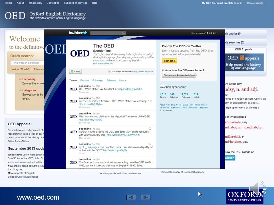 www.oed.com..do takich, które zaczęły być używane w ciągu ostatniego półwiecza.