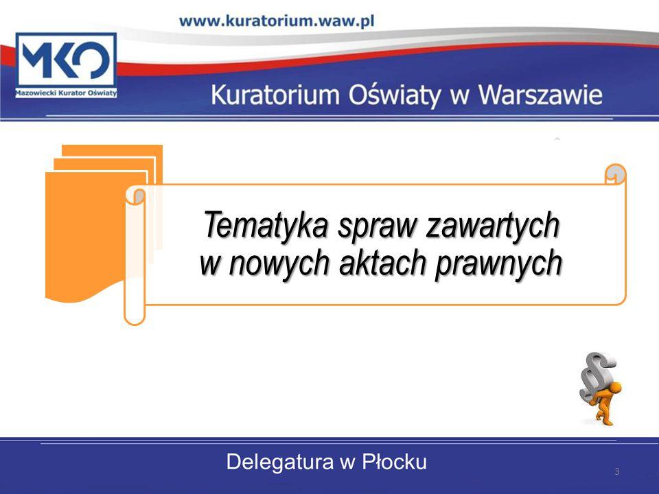 Tematyka spraw zawartych w nowych aktach prawnych 3