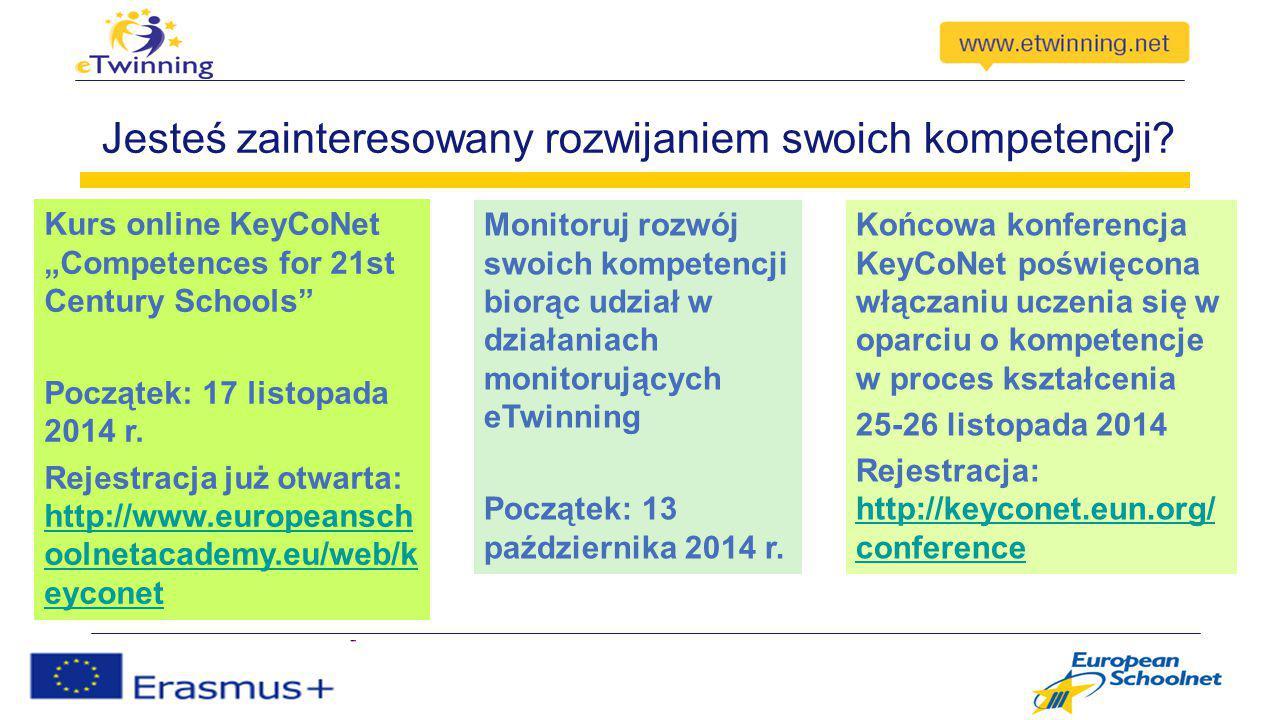 """Jesteś zainteresowany rozwijaniem swoich kompetencji? Kurs online KeyCoNet """"Competences for 21st Century Schools"""" Początek: 17 listopada 2014 r. Rejes"""
