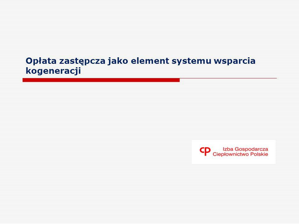 Opłata zastępcza jako element systemu wsparcia kogeneracji