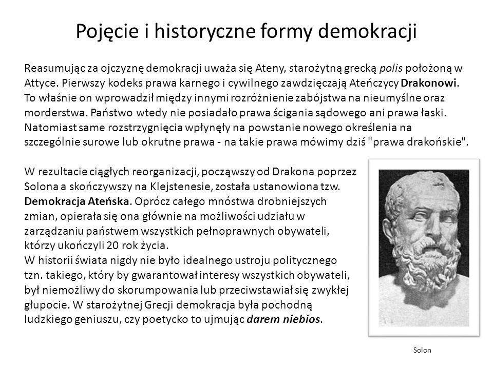 W rezultacie ciągłych reorganizacji, począwszy od Drakona poprzez Solona a skończywszy na Klejstenesie, została ustanowiona tzw. Demokracja Ateńska. O