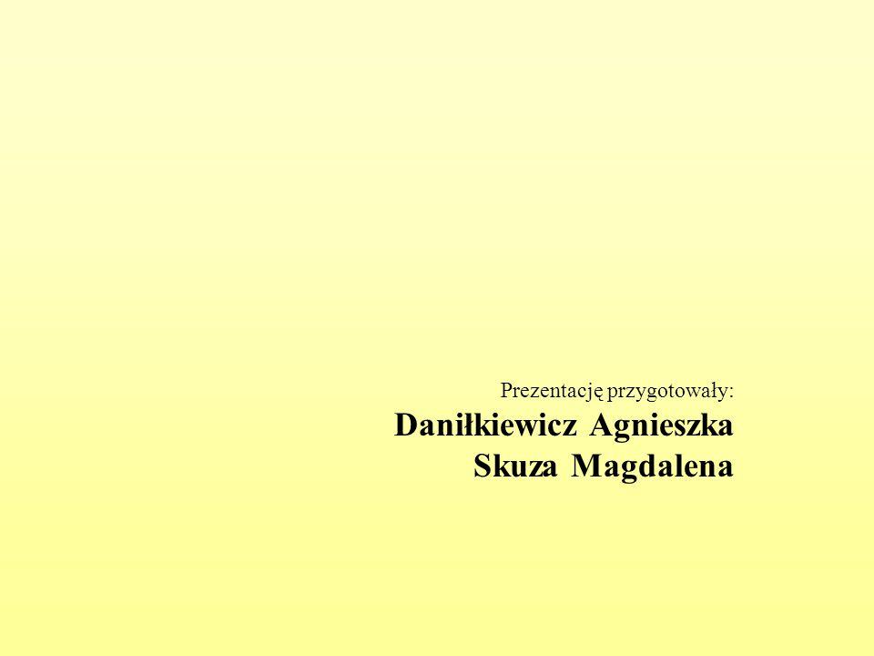 Prezentację przygotowały: Daniłkiewicz Agnieszka Skuza Magdalena