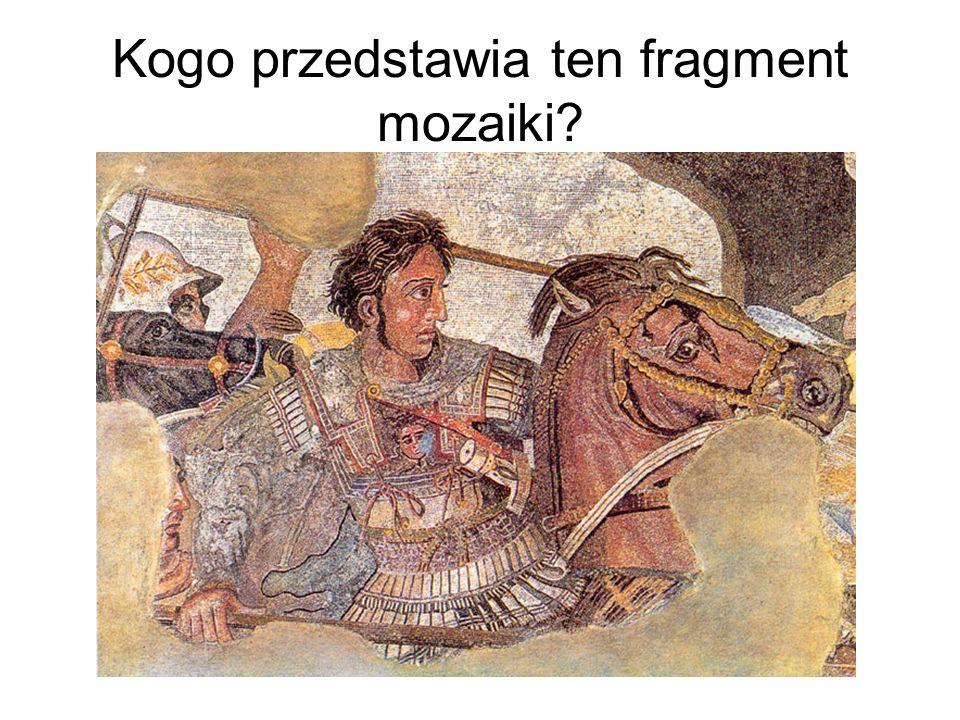 Kogo przedstawia ten fragment mozaiki?