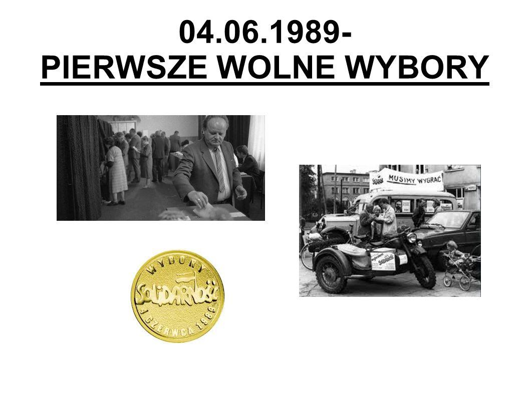 04.06.1989- PIERWSZE WOLNE WYBORY