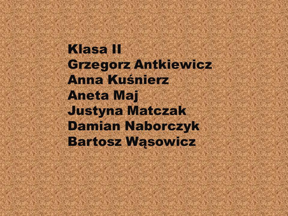 Uczestnicy projektu: Klasa I Paweł Brzozowski Kamil Bukowski Marcin Smółka Weronika Tutus