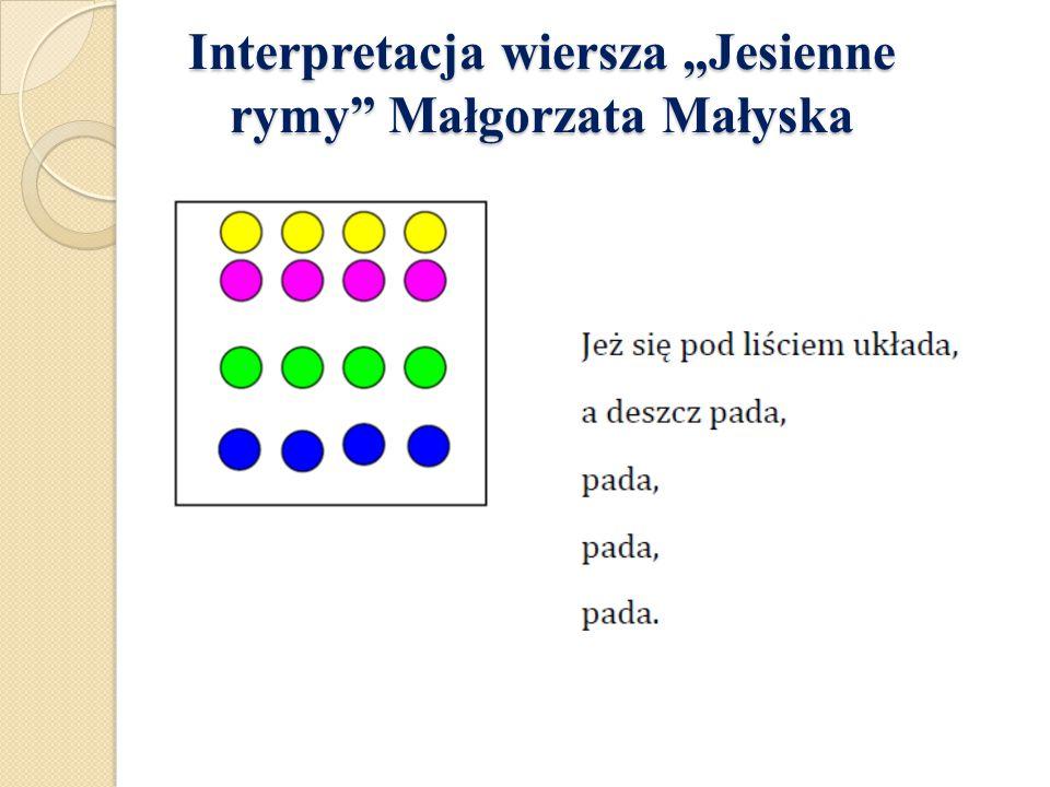"""Interpretacja wiersza """"Jesienne rymy"""" Małgorzata Małyska Interpretacja wiersza """"Jesienne rymy"""" Małgorzata Małyska"""