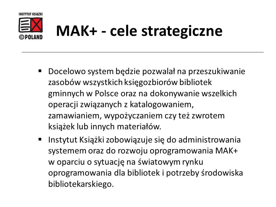  Docelowo system będzie pozwalał na przeszukiwanie zasobów wszystkich księgozbiorów bibliotek gminnych w Polsce oraz na dokonywanie wszelkich operacj