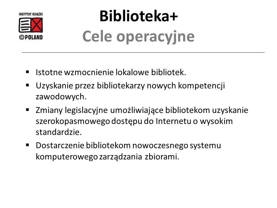  Istotne wzmocnienie lokalowe bibliotek.  Uzyskanie przez bibliotekarzy nowych kompetencji zawodowych.  Zmiany legislacyjne umożliwiające bibliotek