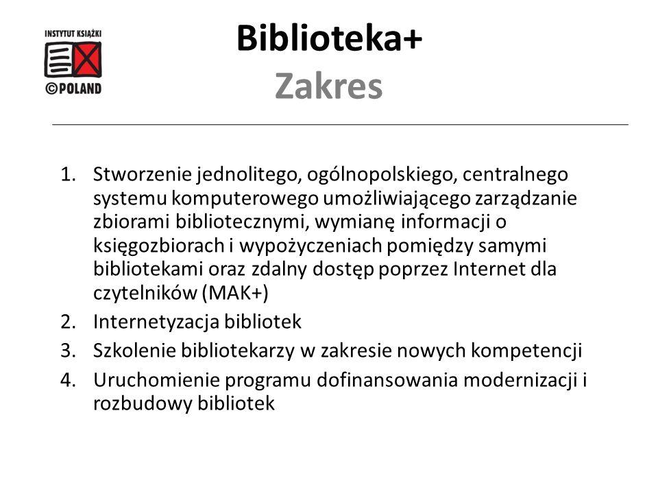 1.Stworzenie jednolitego, ogólnopolskiego, centralnego systemu komputerowego umożliwiającego zarządzanie zbiorami bibliotecznymi, wymianę informacji o