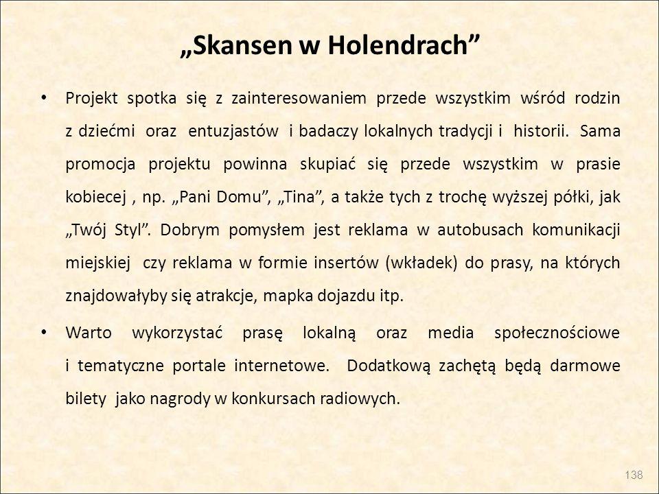 """""""Skansen w Holendrach"""" Projekt spotka się z zainteresowaniem przede wszystkim wśród rodzin z dziećmi oraz entuzjastów i badaczy lokalnych tradycji i h"""