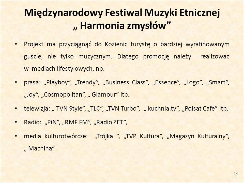 """Międzynarodowy Festiwal Muzyki Etnicznej """" Harmonia zmysłów"""" Projekt ma przyciągnąć do Kozienic turystę o bardziej wyrafinowanym guście, nie tylko muz"""