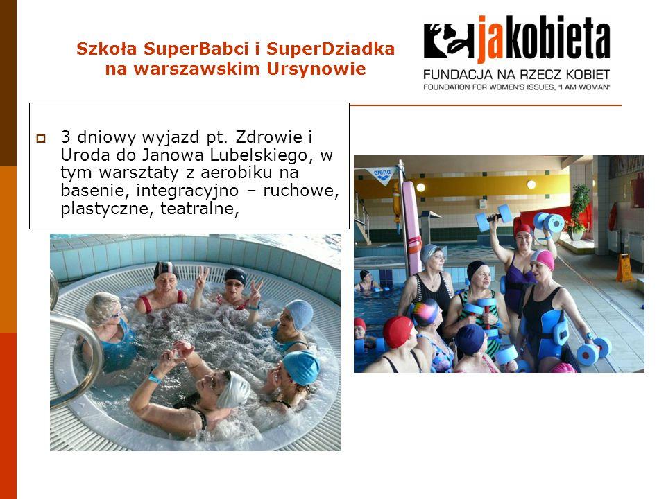 Szkoła SuperBabci i SuperDziadka na warszawskim Ursynowie  3 dniowy wyjazd pt. Zdrowie i Uroda do Janowa Lubelskiego, w tym warsztaty z aerobiku na b