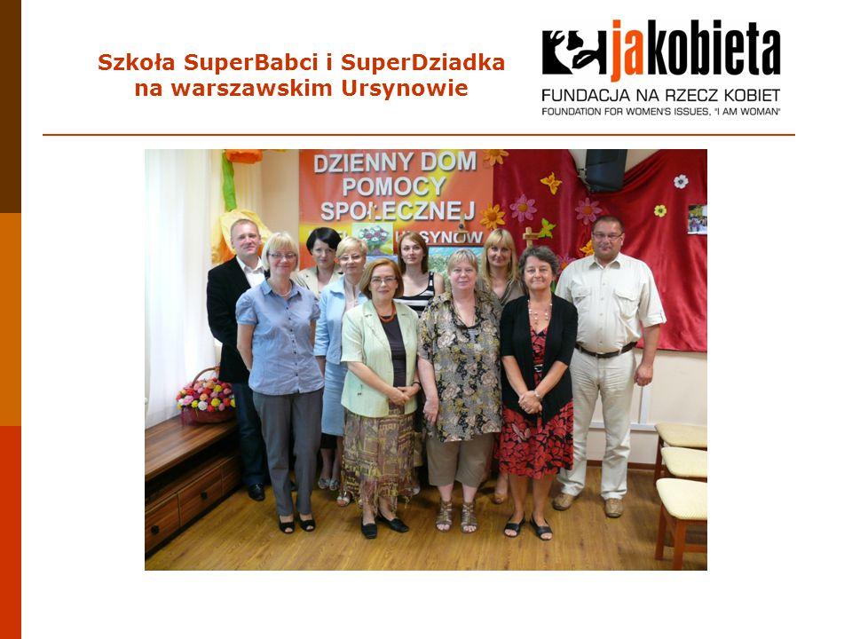 Czas trwania projektu: od września 2011 do czerwca 2012 Miejsce spotkań: Ośrodek Pomocy Społecznej - Dzienny Dom Seniora przy ul.